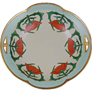 "Porcelain Blank Arts & Crafts Poppy Design Bowl (Signed ""Pearl E. Kiser""/Dated 1924)"