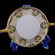 "Gerard, Dufraisseix & Abbott (GDA) Limoges Arts & Crafts Citrus Tree Motif Handled Serving Plate/Dish (Signed ""E.L. Weitler""/c.1900-1941)"