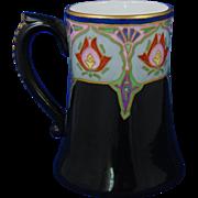 """Jean Pouyat (JP) Limoges Art Deco Floral Design Mug/Tankard (Signed """"B. Shelton""""/Dated 1910)"""