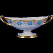 Lenox Belleek Enameled Floral Motif Handled Bowl (Signed/c.1906-1924)