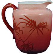 Haviland & Co. (H&Co.) Limoges Shades of Red Spider Palm Motif Pitcher (c.1888-1896)