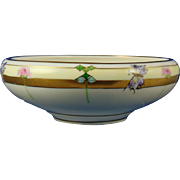 Tressemann & Vogt (T&V) Limoges Arts & Crafts Clover & Butterfly Motif Bowl (c.1892-1907)