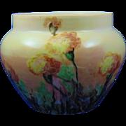 Paroutaud Freres (P&P) La Seynie Limoges Marigolds Motif Vase/Jardinière (c.1903-1917)