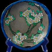 Porcelain Blank Arts & Crafts Floral Design Plate/Dish (Signed/Dated 1927)