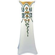 "Heinrich & Co. (H&Co.) Selb Bavaria Art Deco Wisteria/""Wistaria"" Design Vase (Signed ""MJP""/c.1915-1930)"