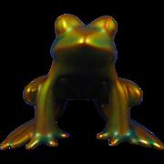 Zsolnay Hungary Eosin Green Frog Figurine (c.1925-1940)