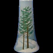Jaeger & Co. (J&C) Bavaria Arts & Crafts Winter Landscape Motif Vase (c.1902)