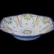 "Reinhold Schlegelmilch (RS) Germany Arts & Crafts Floral Motif Bowl (Signed ""J.C. Carey""/c.1904-1938)"
