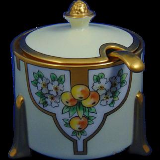 Thomas Bavaria Arts & Crafts Citrus Tree Design Condiment/Jelly Jar Set (c.1912-1930)