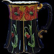 Haviland Limoges Arts & Crafts Poppy Motif Pitcher (c.1894-1931)