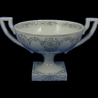 "Willets Belleek Arts & Crafts Pedestal Bowl (Signed ""B. Padfield""/Dated 1915)"