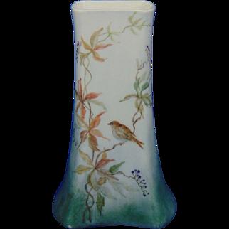 Fischer & Mieg Pirkenhammer Austria Arts & Crafts Bird Motif Vase (c.1873-1918)