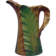 Royal Worcester England Leaf Motif Pitcher (c.1901)