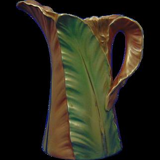 Royal Worcester England Leaf Motif Pitcher (c.1901)