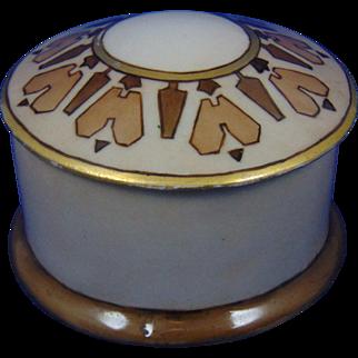 "Oscar & Edgar Gutherz (O&EG) Austria Arts & Crafts Covered Jar (Signed ""ESV""/c.1909-1918)"