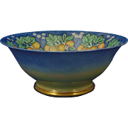 "Uno Favorite Bavaria Arts & Crafts Citrus Motif Centerpiece Bowl (Signed ""Ida Sauterstein""/c.1910-1930)"