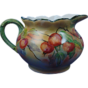 William Guerin & Co. (WG&Co.) Limoges Arts & Crafts Crabapple Motif Cider/Lemonade Pitcher (c.1900-1932)