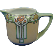 Rosenthal Selb Bavaria Arts & Crafts Rose Motif Pitcher/Creamer (c.1907-1940)