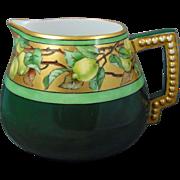 """Porcelain Blank Arts & Crafts Lemon Motif Cider/Lemonade Pitcher (Signed """"LKS""""/Dated 1905)"""