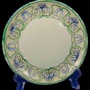 "P.M. Mavaleix (PM de M) Limoges Arts & Crafts Lily Design Plate (Signed ""Maude Oxford""/Dated 1906) - Keramic Studio Design"