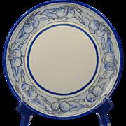 "P.M. Mavaleix (PM de M) Limoges Arts & Crafts Fruit Design Plate (Signed ""Maude Oxford""/Dated 1906) - Keramic Studio Design"