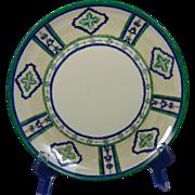 "P.M. Mavaleix (PM de M) Limoges Arts & Crafts Enameled Floral Design Plate (Signed ""Maude Oxford""/Dated 1906) - Keramic Studio Design"