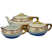 Pfeiffer & Lowenstein (P&L) Imperial Austria Arts & Crafts Teapot, Creamer & Sugar Set (c.1914-1918)