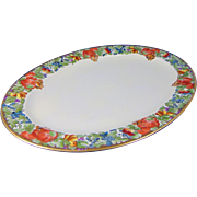 Hutschenreuther Selb Bavaria Arts & Crafts Fruit Motif Small Platter (c.1920-1940)