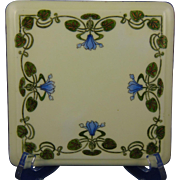 PH Leonard Austria Arts & Crafts Floral Motif Trivet (c.1890-1908)