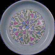"""PH Leonard Austria Arts & Crafts Floral Design Pedestal Trinket Dish (Signed """"Ercell Grey""""/Dated 1915)"""