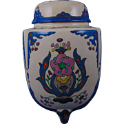 "American Satsuma Arts & Crafts Enameled Footed Urn/Potpourri Jar (Signed ""L. Horlocker""/Dated 1916)"