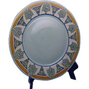 "Hutschenreuther Selb Bavaria Egyptian Motif Charger/Plate (Signed ""Buchanan""/c.1910-1930)"