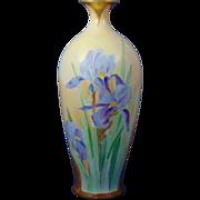 Oscar & Edgar Gutherz (O&EG) Austria Arts & Crafts Iris Design Vase (c.1899-1918)
