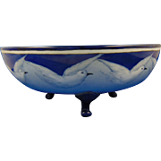 Oscar & Edgar Gutherz (O&EG) Austria Arts & Crafts Seagull Motif Footed Bowl (c.1904-1920) - Keramic Studio Design