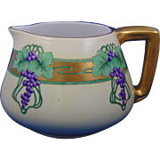 Bernardaud & Co. (B&Co.) Limoges Arts & Crafts Grape Motif Cider/Lemonade Pitcher (c.1900-1920)