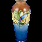 Oscar & Edgar Gutherz (O&EG) Austria Arts & Crafts Bluebird Motif Vase (c.1910-1930)