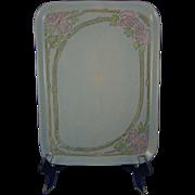 Uno Favorite Bavaria Arts & Crafts Rose Motif Tray (c.1905-1930)