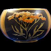 """Willetts Belleek Arts & Crafts Lustre Bowl (Signed """"L.M.A.""""/c.1880-1904)"""
