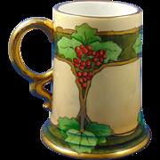 "Rosenthal Selb Bavaria Arts & Crafts Grape Design Tankard (Signed ""Lynde""/c.1907-1930)"