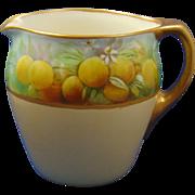 Lenox Belleek Arts & Crafts Orange Motif Pitcher (c.1906-1924)