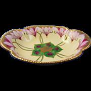 "Pickard Studios Haviland Limoges Cyclamen Design Dish (Signed ""RH"" for Robert Hessler/c.1903-1905)"