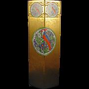 Bernardaud & Co. (B&Co.) Limoges Arts & Crafts Etched Gold & Enameled Bird Design Vase (c.1910-1935) - Keramic Studio Design