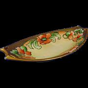 "Hutschenreuther Bavaria Arts & Crafts Poppy Design Dish (Signed ""M. Perl""/c.1910-1930)"