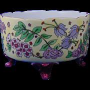 Bernardaud & Co. (B&Co.) Limoges Arts & Crafts Floral Design Footed Planter/Vase (c.1910-1940)