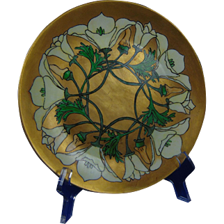 Hutschenreuther Selb Bavaria Arts & Crafts Floral Design Plate (c.1930's)