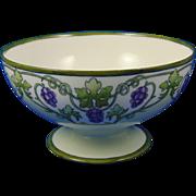 "Haviland Limoges Arts & Crafts Grape Motif Bowl (Signed ""E.S.B.""/Dated 1909)"