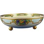 Haviland Limoges Arts & Crafts Fruit Motif Footed Centerpiece Bowl (c.1910-1930)