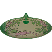 "William Guerin & Co. (WG&Co.) Limoges Arts & Crafts Bleeding Heart Design Serving Dish (Signed ""M.T.""/c.1900-1930)"