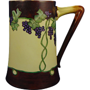 "Delinieres & Co. (D&Co.) Limoges Arts & Crafts Grape Motif Tankard (Signed ""MG""/c.1906-1930) - Keramic Studio Design"