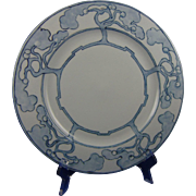 "Limoges ""Mark 6"" Arts & Crafts Monochromatic Tree Motif Plate (Signed ""Lontz""/c.1910-1930)"